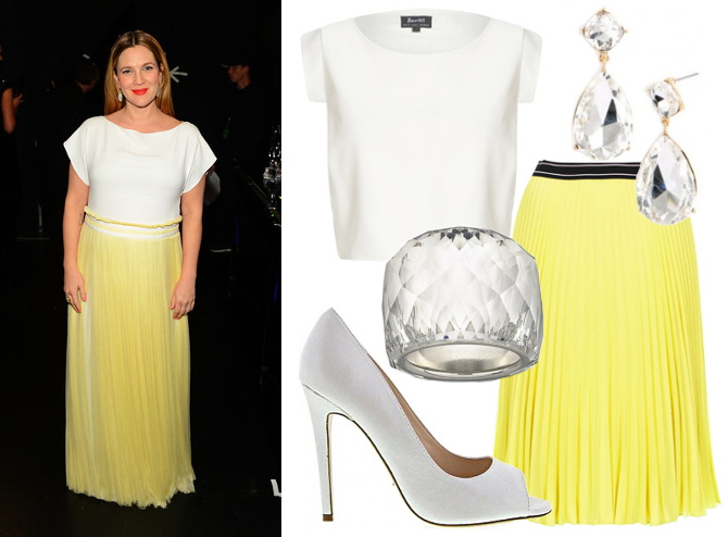 Drew Barrymore red carpet style