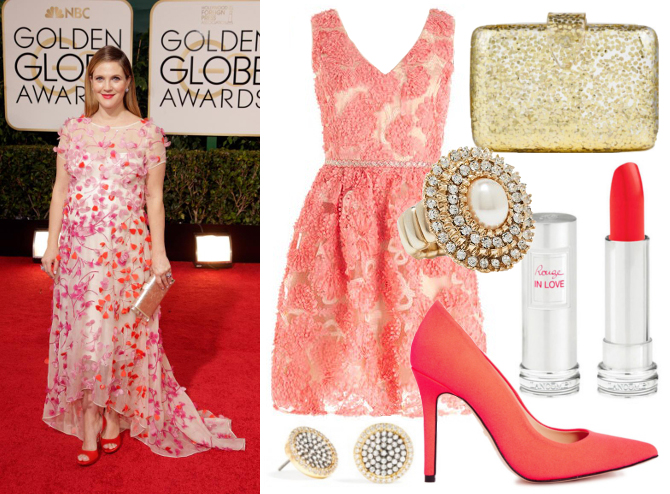 Drew Barrymore red carpet style 2014