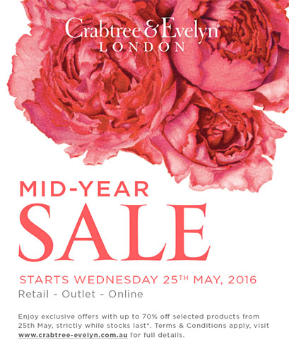 Crabtree & Evelyn Mid-Year Sale