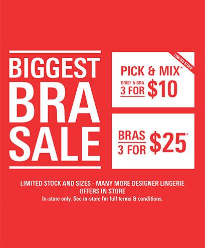 The Biggest Bra Sale