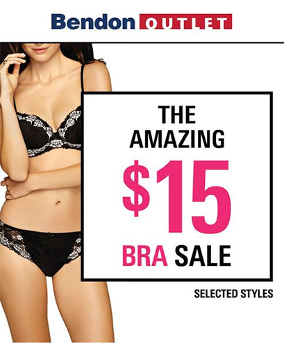 BENDON – The Amazing $15 Bra Sale
