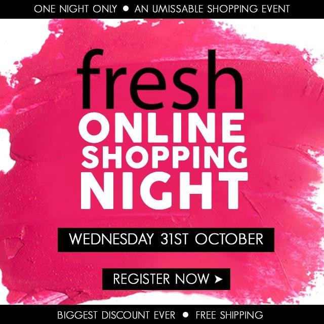 Fresh Online Shopping Night, Register Now