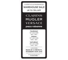 Cosmetics & Fragrances Warehouse Sale - Beauty Sales & Deals