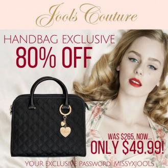 'JOOLS LOVE PARIS' Handbag - Was $265, Now $49.99
