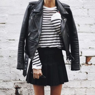 10 Ways to Style Your Leather Biker Jacket