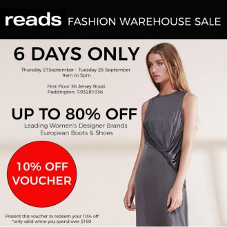 Reads Fashion Warehouse Sale