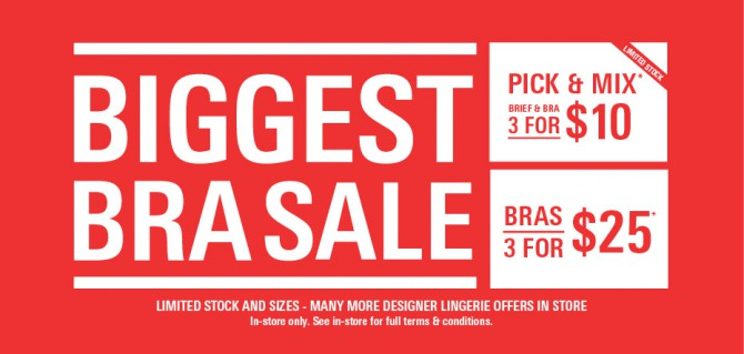 The Biggest Bra Sale