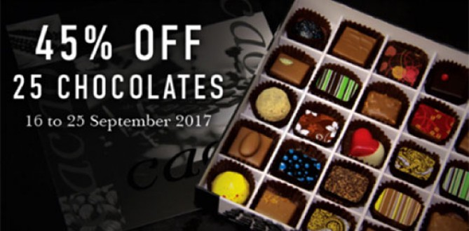 ITS BACK! 45% Off Beautiful CACAO Chocolates & Pâtisserie