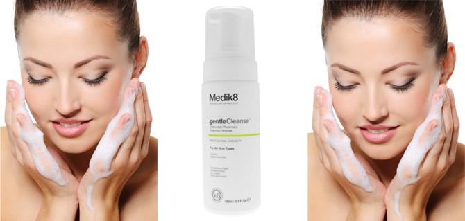 Medik8 gentleCleanse Antioxidant Rosemary Foaming Cleanser