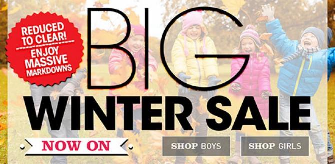 Kidzwear Winter Clearance Sale