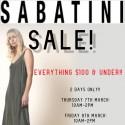 Sabatini Everything $100 and Under Sale