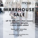 Sandro Paris and Maje Warehouse Sale