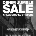 Denim Jumble Sale at Lee Chapel Street Store