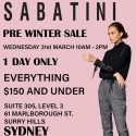 Sabatini One Day Pre Winter Sale