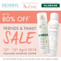 Avène, Klorane & Dexeryl Friends and Family Sale