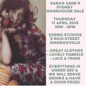 Sarah-Jane Sydney Warehouse Sale