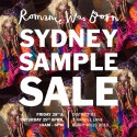 Romance Was Born Sydney Sample Sale is Coming
