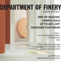 Department Of Finery Made In Italy Warehouse Sale
