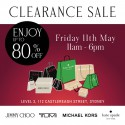 Jimmy Choo, Michael Kors, Kate Spade, TUMI Sample Sale!