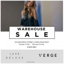 Designer Warehouse Sale