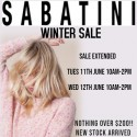 Sabatini Winter Sale - Extended
