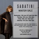 Sabatini Winter Sale Sydney