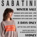 Sabatini Winter Sale