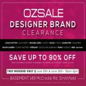 Biggest Ever Ozsale Designer Brand Clearance Event