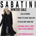 Sabatini Nothing Over $100 Winter Sale