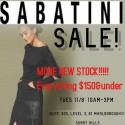 Sabatini Nothing Over $150 -1 Day Sale