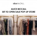 alice McCALL Sale Pop Up