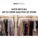 alice McCALL Sale Pop Up
