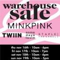 Huge MINKPINK Warehouse Sale