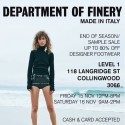 Department of Finery End Of Season Sale