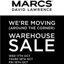 Marcs & David Lawrence Moving (around the corner) Sale