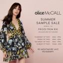 alice McCALL Summer Sample Sale