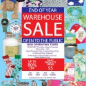 End of Year Warehouse Sale Open To The Public
