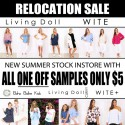 Living Doll and Wite Relocation Sale