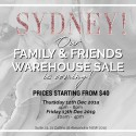 White Runway Sydney Warehouse Sale
