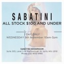 Sabatini $100 and Under Sydney Sale