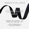 Rebecca Vallance Warehouse Sale