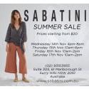 Sabatini's Biggest Summer Sale