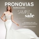 Pronovias Sample Sale – 50% Off All 2018 Stock