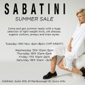 Sabatini Summer Sale