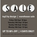 Top3 By Design Annual Warehouse Sale
