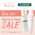 Avène and Klorane Friends and Family Sale