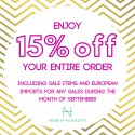 FIRST Birthday Discount @ House of Nicholetta