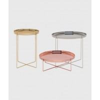 "Habibi Tray Tables, ""They are amazing handmade side tables in brass, copper and stainless. I have a huge copper and brass obsession and these tables are perfection."" http://livingedge.com.au/shop/238-cm05-habibi-tray-tables.html"