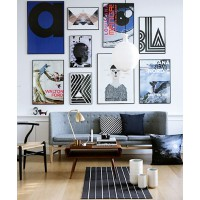 A good French Hang transforms a wall. http://apartmentdiet.com/tag/french-hang/