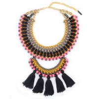 Sollis Jewellery Zari Statement Necklace, $429. http://sollis.bigcartel.com/